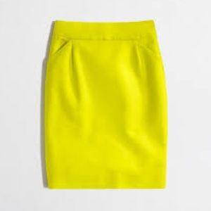 J. Crew Yellow Pencil Skirt